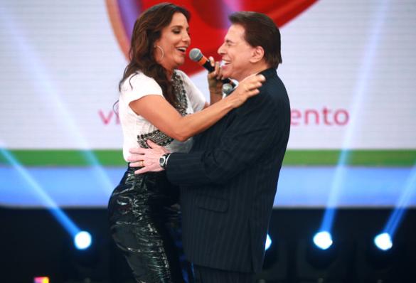 Silvio Santos e Ivete no Teleton de 2013 (Foto: Divulgação)
