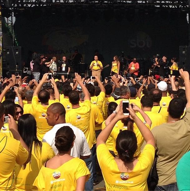 Silvio na festa do SBT (Foto: Reprodução)
