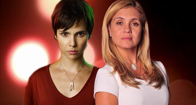 """Nina (Débora Falabella) Carminha (Adriana Esteves), protagonista e vilã de """"Avenida Brasil"""" (Foto:Divulgação)"""