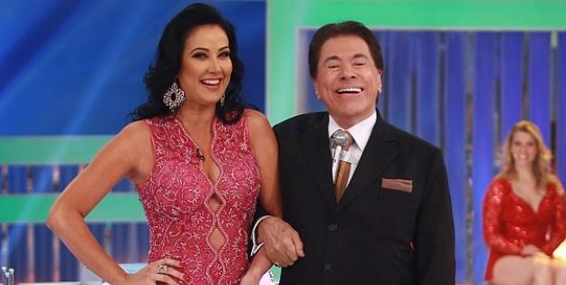 Silvio Santos e Helen Ganzarolli. Foto: Reprodução