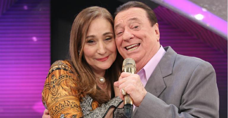 Sonia Abrão e Raul Gil (Foto: Divulgação/SBT)