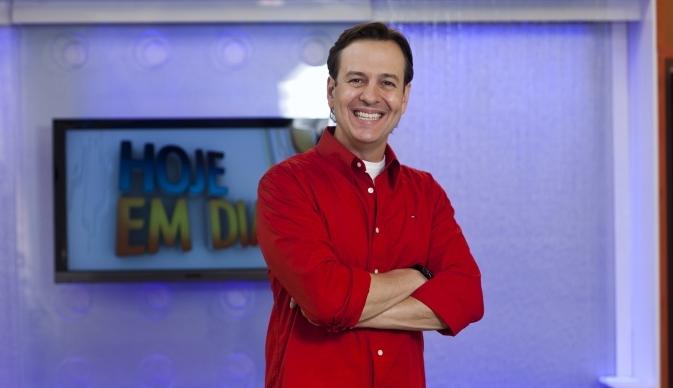 Celso Zucatelli no Hoje em Dia. (Foto: Divulgação/Record)
