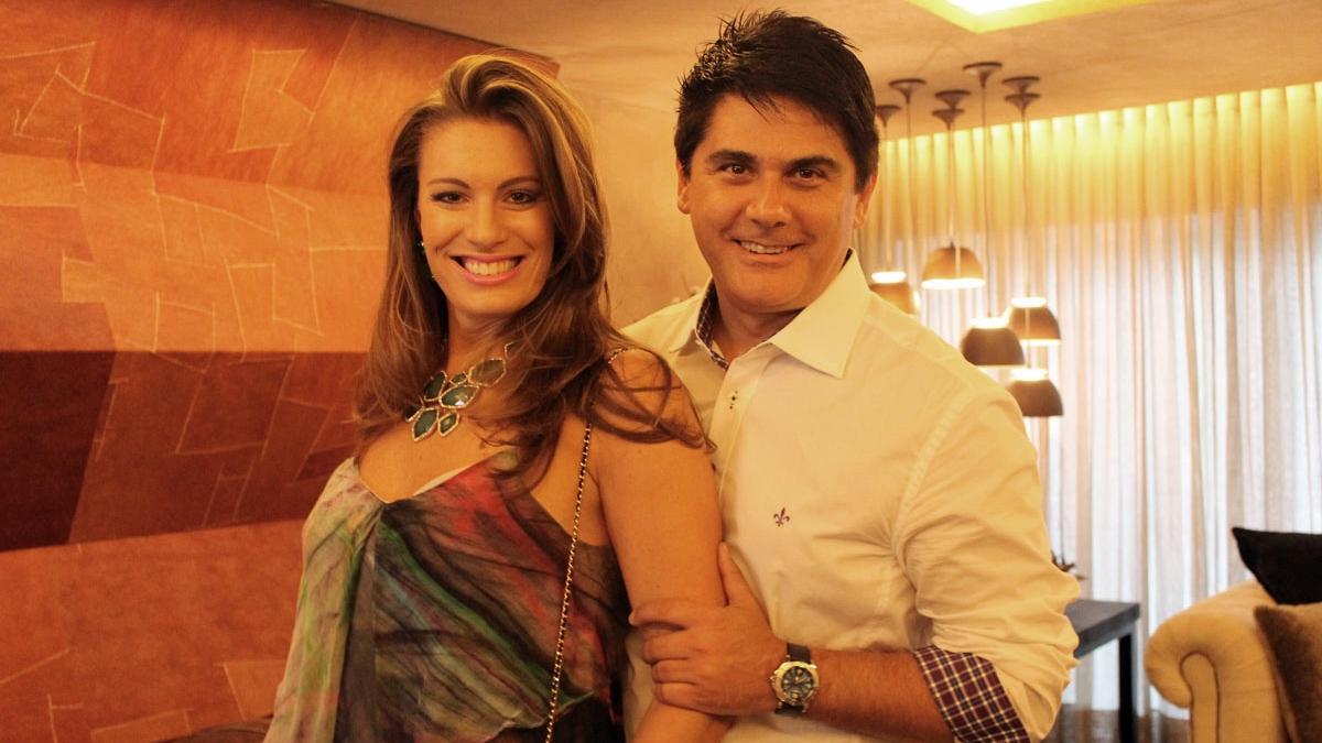 C sar filho e esposa apresentar o novo reality show da for Muralha e sua esposa