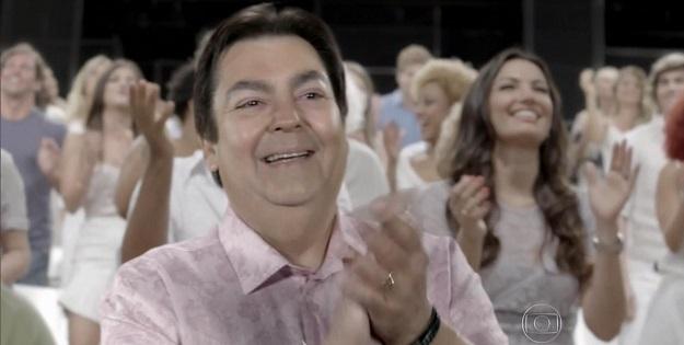 Fausto Silva na vinheta de fim de ano da Globo (Foto: Reprodução/ Globo)