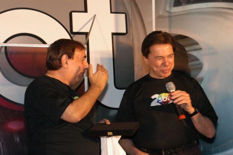 Festa de 25 anos do SBT, na sede da emissora em São Paulo (18/8/2006). Divulgação/SBT