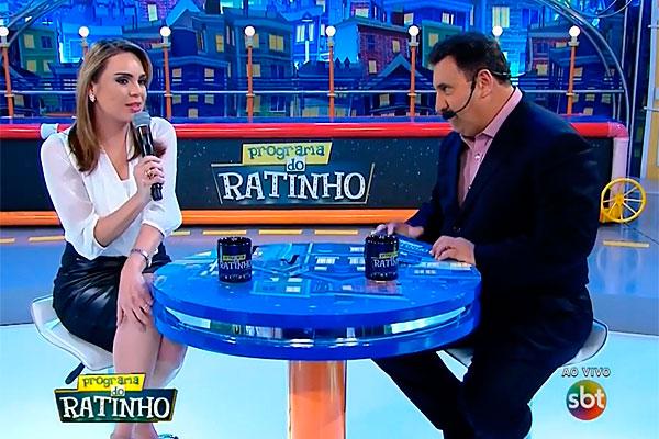 """Rachel Sheherazade esteve no """"Programa do Ratinho"""" na última quinta-feira (29)"""