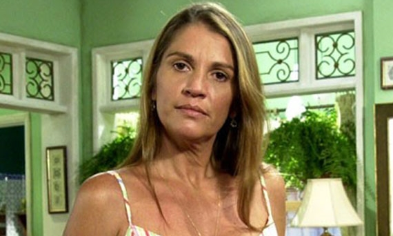 Tassia Camargo em bastidor de novela
