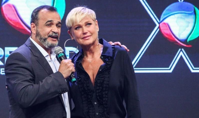 Marcelo Silva, vice-presidente da Record, e Xuxa Meneghel  (Manuela Scarpa/Photo Rio News)