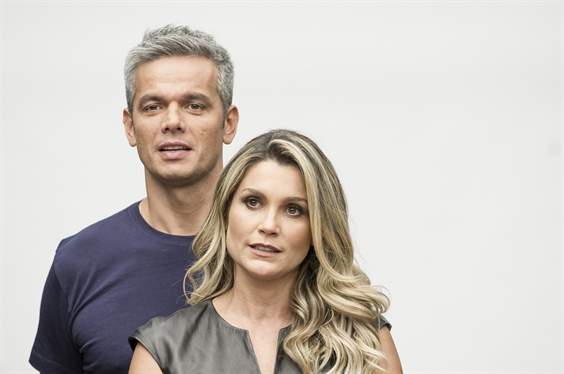 Otaviano Costa e Flavia Alessandra (Foto: Globo/João Cotta)