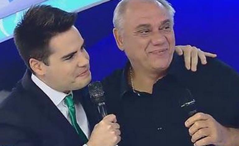 Marcelo Rezende  e Luiz Bacci no Gugu (Foto: Reprodução/Record)