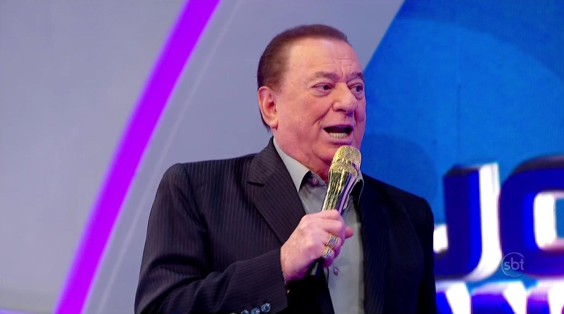 O apresentador Raul Gil em seu programa no SBT (Foto: Reprodução/SBT)