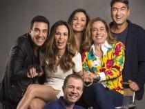 Ana Furtado, André Marques, Cissa Guimarães, Patrícia Poeta, Tiago Leifert e Zeca Camargo (Foto: Globo/ Divulgação)