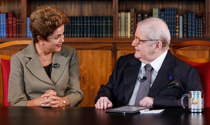 Presidenta Dilma Rousseff durante entrevista ao Jô Soares (Foto: Roberto Stuckert Filho/PR)