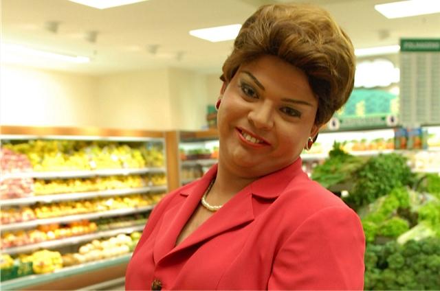 Gustavo Mendes imitando Dilma Rousseff (Foto: Reprodução)