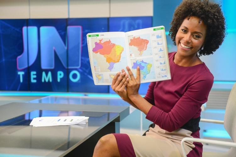 Maria Júlia comanda a previsão do tempo (Foto: Divulgação)