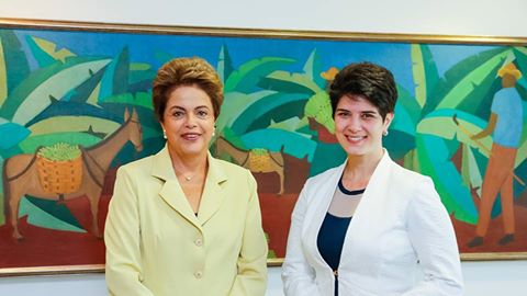 Mariana Godoy fez uma visita a Dilma Rousseff (Foto: Divulgação)