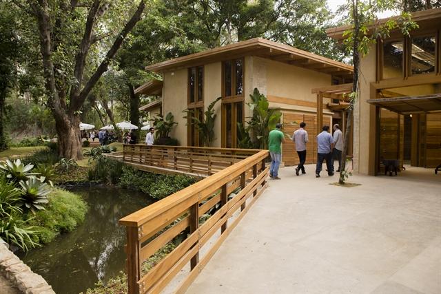Área externa da casa do 'É De Casa' (Foto: Globo/Tata Barreto)