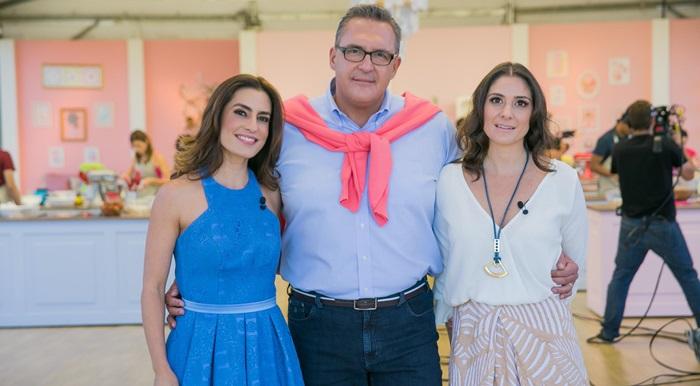 Ticiana Villas Boas, Fabrizio Fasano Jr. e Carolina Fiorentino (Foto: Artur Igrecias/ SBT)