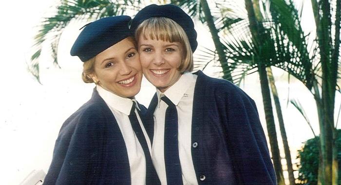 Pérola Marques (Patrícia de Sabrit) e Eva (Vanusa Splindler) (Foto: Divulgação/ SBT)