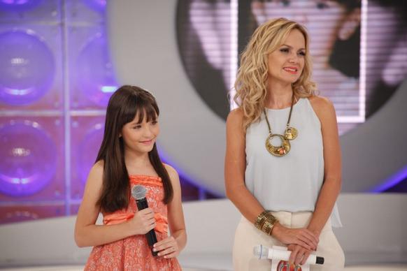 Larissa Manoela e Eliana no programa (Foto: Divulgação)