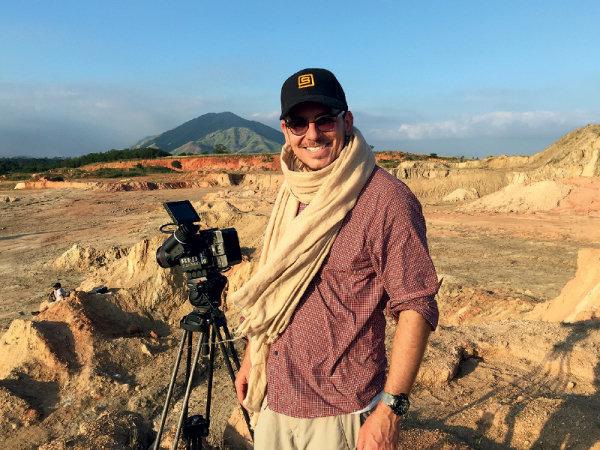 O produtor Leo Santa Rita em Los Angeles (Foto: Divulgação)