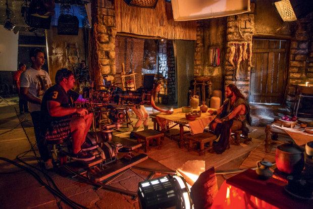Gravação no RecNov, em Vargem Grande (Foto: Divulgação)
