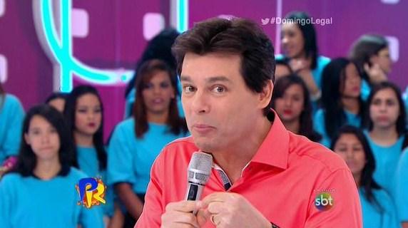 """Celso Portiolli apresenta o """"Domingo Legal"""" (Foto: Reprodução)"""