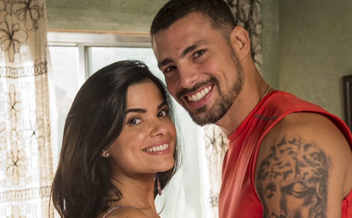 Tóia (Vanessa Giácomo) e Juliano (Cauã Reymond) (Foto: Globo/João Cotta)