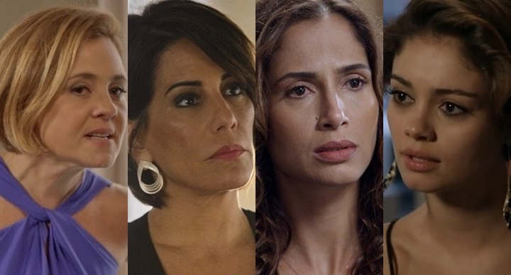 Inês (Adriana Esteves), Beatriz (Glória Pires), Regina (Camila Pitanga) e Alice (Sophie Charlotte) (Fotos: Globo/ Divulgação/ Montagem)