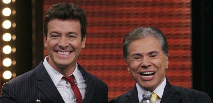 Rodrigo Faro e Silvio Santos no Troféu Imprensa (Foto: Reprodução)