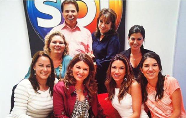 Silvio Santos com sua esposa e filhas (Foto: Divulgação)