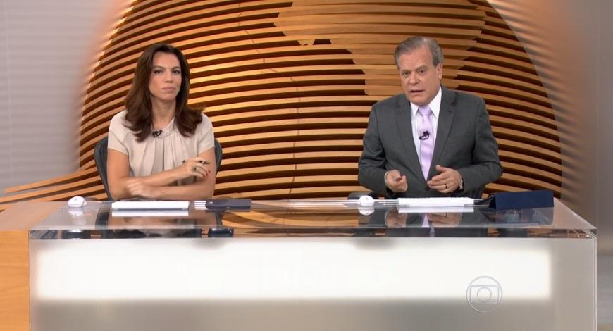 """Ana Paula Araújo e Chico Pinheiro comandam o """"Bom Dia Brasil"""" (Foto: Reprodução/Globo)"""