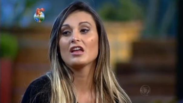 """Andressa Urach durante o reality """"A Fazenda"""" (Foto: Reprodução/Record)"""