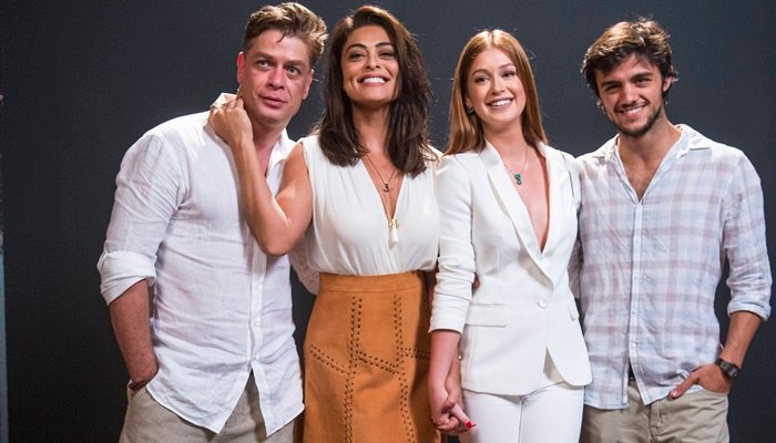 Fabio Assunção, Juliana Paes, Marina Ruy Barbosa e Felipe Simas (Foto: Globo/Renato Rocha Miranda)