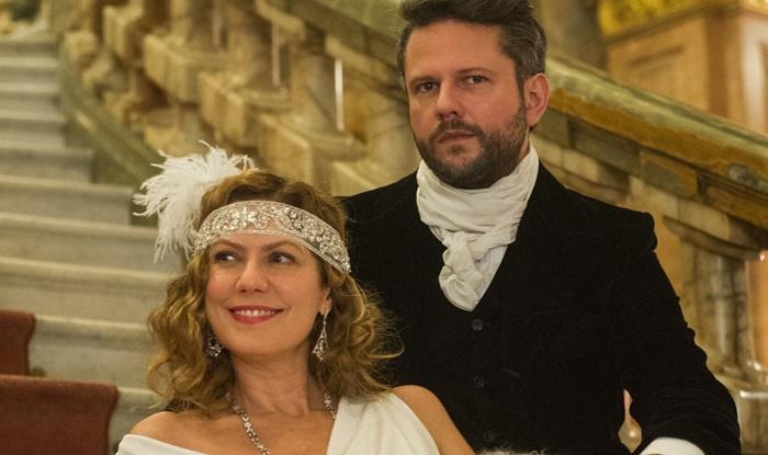 Isabel D´Ávila de Alencar (Patricia Pillar) e Augusto de Valmont (Selton Mello) (Foto: Globo/Caiuá Franco)