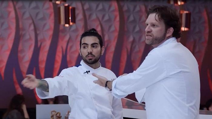 """Bertolazzi surta com Renan no """"Hell's Kitchen"""" (Foto: Divulgação/SBT)"""