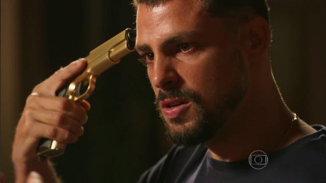 """Juliano (Cauã Reymond) em cena de """"A Regra do Jogo"""" (Foto: Reprodução/Globo)"""