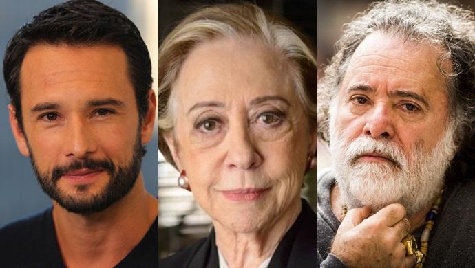 Rodrigo Santoro, Fernanda Montenegro e Tony Ramos (Foto: Divulgação/Globo/Montagem)