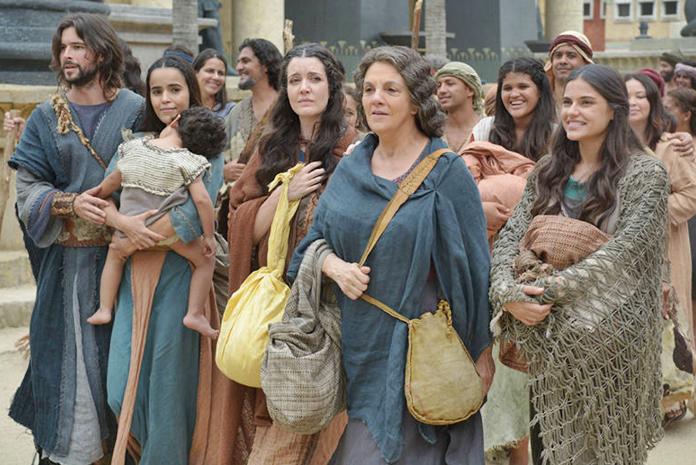 A novela exibiu a fuga dos Hebreus no capítulo (Foto: Divulgação)