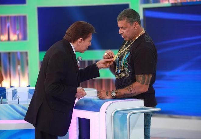 Silvio Santos e Alexandre Frota (Roberto Nemanis/SBT)