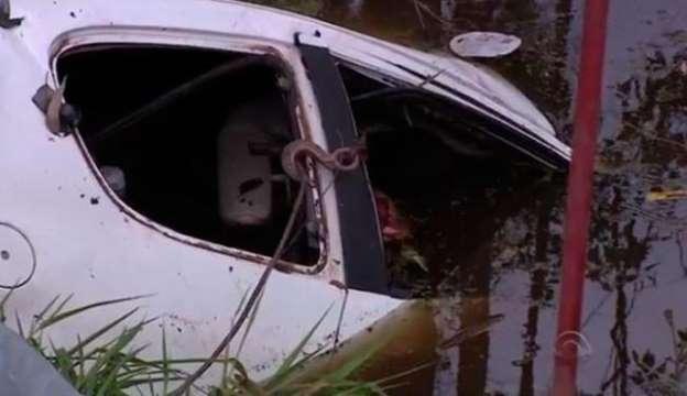 Foto do carro após o acidente (Foto: Reprodução)