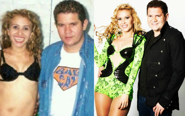 A cantora Joelma e seu ex-marido Chimbinha, antes e depois da fama (Foto montagem)