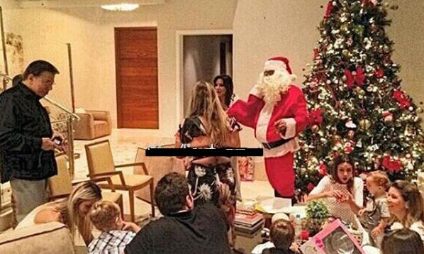 Silvio e família já comemoram o Natal (Foto divulgação: Keila Jimenez - R7)