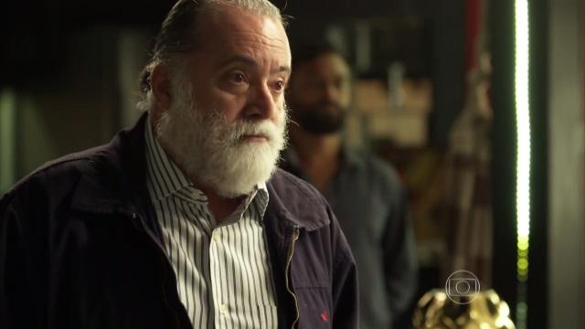 """Zé Maria (Tony Ramos) em """"A Regra do Jogo"""" (Foto: Reprodução/Globo)"""