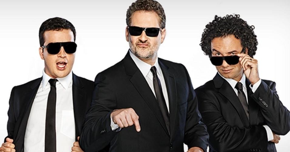Dan Stulbach, Marco Luque e Rafael Cortez apresentaram a última temporada do CQC