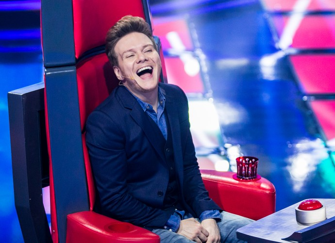 "Michel Teló no ""The Voice"". (Foto: Isabella Pinheiro/Gshow)"