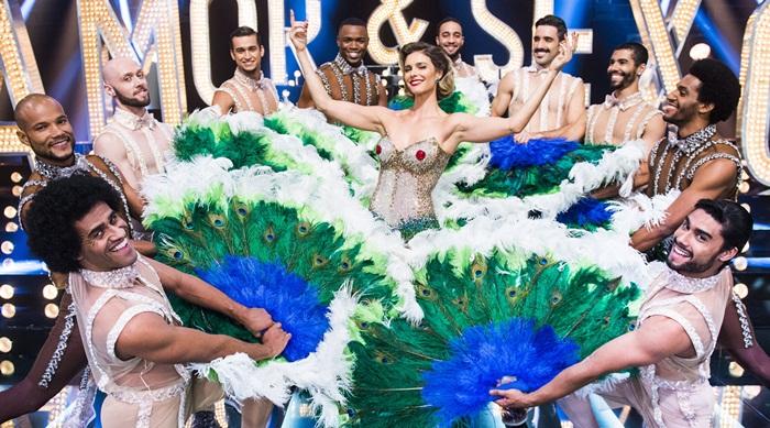 Fernanda Lima e dançarinos (Foto: Globo/João Miguel Júnior)