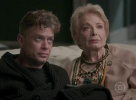 """Arthur (Fábio Assunção) e Stelinha (Glória Menezes) em cena de """"Totalmente Demais"""" (Foto: Reprodução/Globo)"""