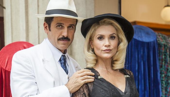 Ernesto (Eriberto Leão) e Sandra (Flávia Alessandra) (Foto: Globo/Sergio Zalis)