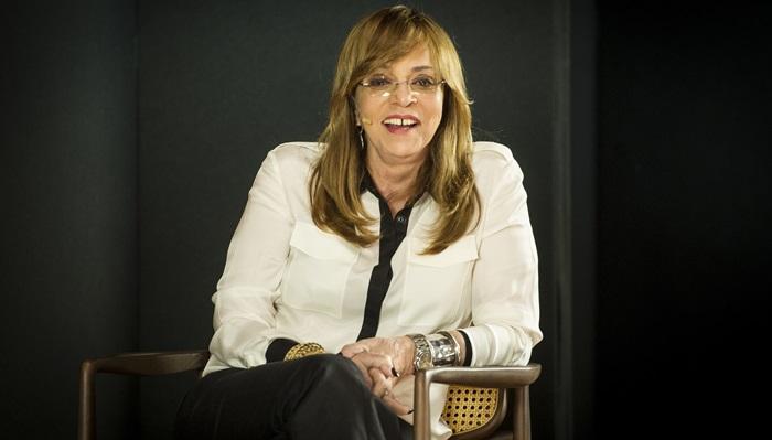 """Glória Perez em entrevista ao programa """"Ofício em Cena"""", da Globo News (Foto: Globo/João Cotta)"""